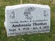 Profile photo:  Ambrosia <I>Johnson</I> Thomas