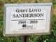 Profile photo:  Gary Loyd Sanderson