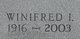Profile photo:  Winifred I <I>Stephens</I> Fitzpatrick