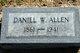 Profile photo:  Daniel Webester Allen