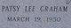 Patsy Lee <I>Graham</I> Cofer