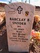 SPC Barclay Benjamin Snyder
