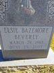 Profile photo:  Elsie Virginia <I>Bazemore</I> Beverly