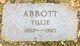 Profile photo:  Tillie <I>Headley</I> Abbott
