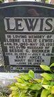 Bessie C <I>Bienker</I> Lewis