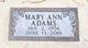 Profile photo:  Mary Ann <I>Fia</I> Adams