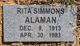 Profile photo:  Rita <I>Simmons</I> Alaman
