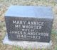 Profile photo:  Mary Annice <I>McWhorter</I> Anderson