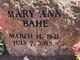 Profile photo:  Mary Ann Bahe