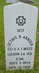 Sgt Octave Roland Arbour