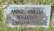 "Profile photo:  Anna Amelia ""Annie"" Williams"