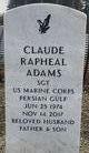 Profile photo:  Claude Rapheal Adams