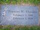"""Frances W. """"Fannie"""" <I>Walters</I> Brewster Rhoades"""