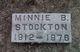 Minnie B <I>Myers</I> Stockton