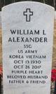 Profile photo:  William L. Alexander