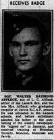 Profile photo: Pilot Officer ( W.Op./Air Gnr. ) Walter Raymond Affleck