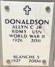 Profile photo:  Allyn Capron Donaldson, Jr