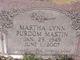 Martha Lynn <I>Purdom</I> Mastin
