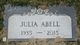 Profile photo:  Julia Abell