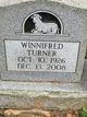 Winifred <I>Metcalf</I> Turner