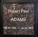 Profile photo:  Robert Paul Adams