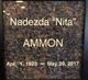 "Profile photo:  Nadezda ""Nita"" Ammon"