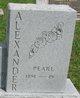 Profile photo:  Pearl <I>Goodall</I> Alexander