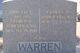 """Annette Patience """"Nettie"""" <I>Dennis</I> Warren"""
