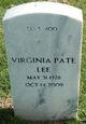 Virginia <I>Pate</I> Lee