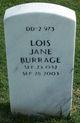 Lois Jane <I>Gardner</I> Burrage