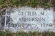 Cecilia M Anderson
