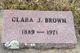 Clara J Brown