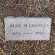 Alice May <I>Uhler</I> Carroll