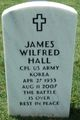 Corp James Wilfred Hall