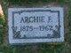 "Profile photo:  Archibald Frank ""Archie"" Babcock"