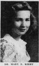 Dr Mary Ella <I>Kirby</I> Berry