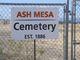 Ash Mesa Cemetery