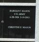 Harold F Mason