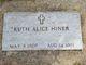 Ruth Alice <I>Waite</I> Hiner
