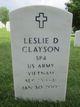 Profile photo: Spec Leslie D. Clayson