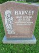 Mary Lavenia <I>Nunn</I> Harvey