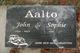 Profile photo:  John Aalto