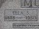 """Sarah Ellen """"Ella"""" <I>Watts</I> Morris"""