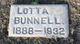 """Lotta Alice """"Lottie"""" <I>Brown</I> Bunnell"""