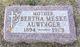 Bertha <I>Meske</I> Auwinger