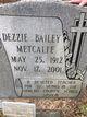 Profile photo:  Dezzie <I>Bailey</I> Metcalfe