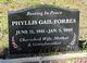 Profile photo:  Phyllis Gail Forbes