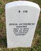 Profile photo:  Julia <I>Achurch</I> Adams