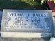 Profile photo:  Velma Jane <I>Evans</I> Bales