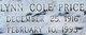 Lynn <I>Cole</I> Price